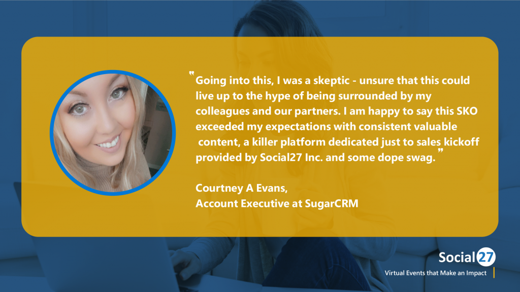 Virtual event attendee customer review